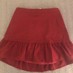 J. Crew flounce mini skirt NWT